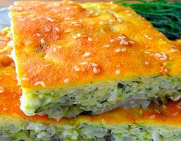 Пирог на кефире с капустой